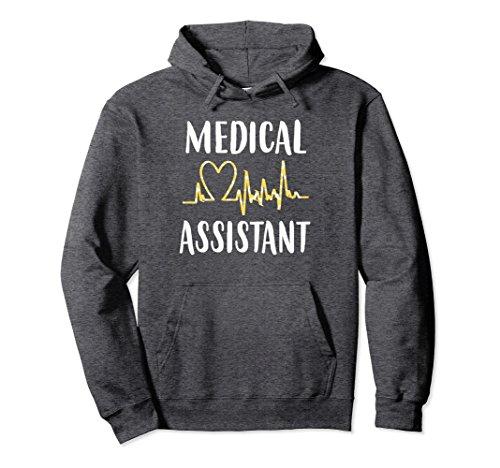 Hooded Sweatshirt Assistant (Unisex Medical Assistant Gift Cute Medical Assistant Hoodie Small Dark Heather)