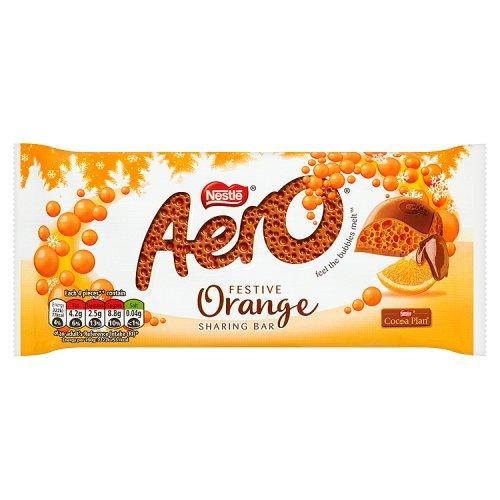 (Nestle Aero Festive Orange (5 x 100g Sharing Bars))