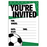Soccer Party Invitations (20 Count) With Envelopes