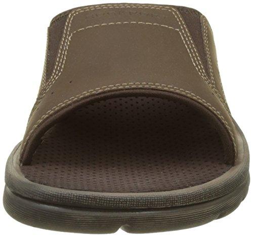 Rockport Herren Gyks Strap Slide regulär filp-flop Marron (Dk Brown Lea)