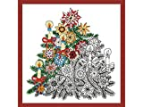 Design Works Crafts Christmas Tree Zenbroidery Printed Fabric Pack Embroidery Kit, Multi-Colour by Design Works Crafts
