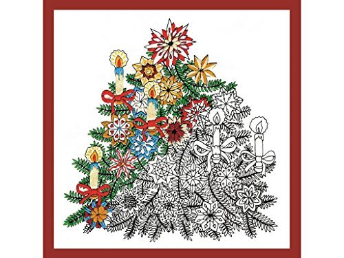 Design Works Crafts Christmas Tree Zenbroidery Printed Fabric Pack Embroidery Kit, Multi-Colour by Design Works Crafts by Design Works Crafts