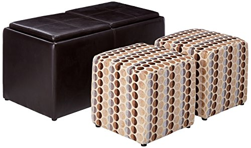 Ashley Furniture Signature Design - Geordie Ottoman with Storage - Flip Tops with Handled Serving Trays - Contemporary - (Miles Storage Ottoman Bench)