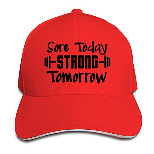 Men's Sore Today Strong Tomorrow Washed Twill Sandwich Caps Hats (Red Card Luke Skywalker)