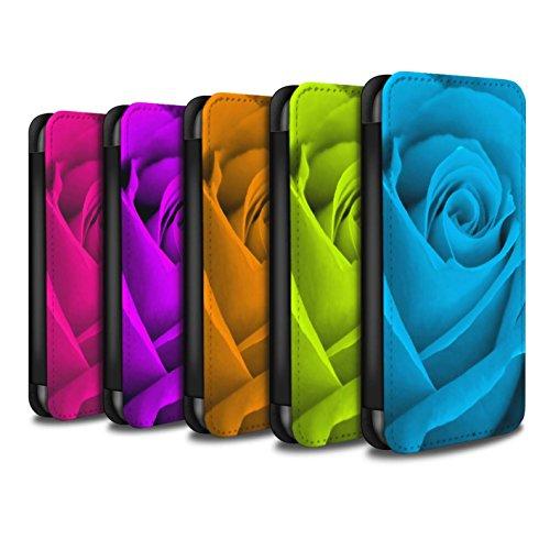Stuff4 Coque/Etui/Housse Cuir PU Case/Cover pour Apple iPhone 8 / Multipack (8 Designs) Design / Rose Collection