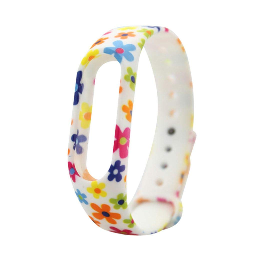 Zerama Ersatz f/ür Xiaomi MiBand2 TPU-Armband Blumenhandschlaufe Armband ersetzen Zubeh/ör