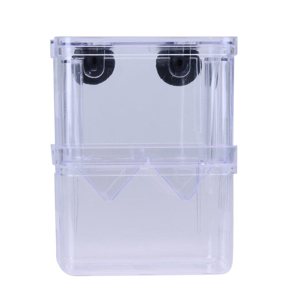 Awakingdemi Aquarium Fish Breeder Box, Acrylic Fish Breeding Isolation Box Incubator for Fish Tank