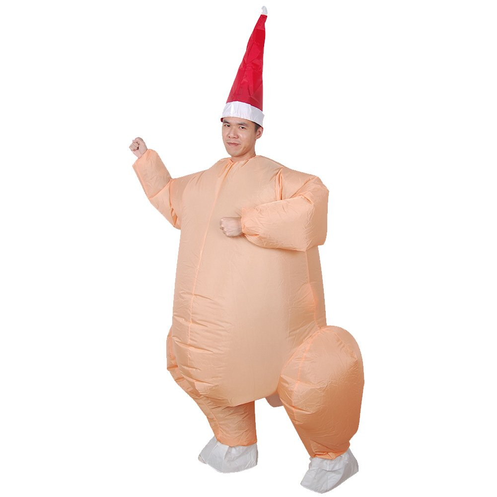 Vantina Inflatable Adult Costume Funny Turkey Jumpsuit Cosplay Thanksgiving Suit by Vantina (Image #3)