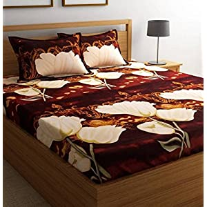 Zolico Polyester Cotton 180 TC Bedsheet (Full_Multicolour)