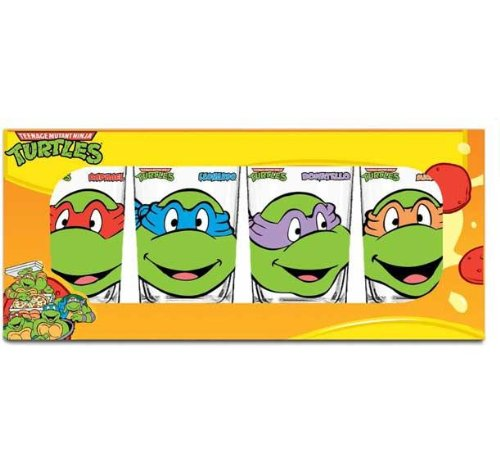amazon com teenage mutant ninja turtles 16 ounce glassware set