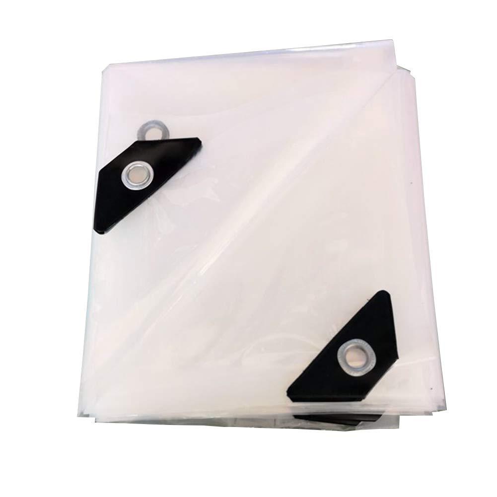 ZEMIN オーニング サンシェードテン トタープ レインプルーフ 暖かくしてください トランスペアレント アウトドア 不凍液 ボタンホール PE、 24サイズ (色 : クリア, サイズ さいず : 6x6m) 6x6m クリア B07PWF6Y5B