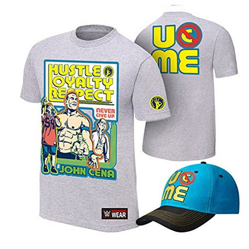 b15d32122698 WWE Superstar Cotton Short Sleeved T-shirt , Cap , Sweatbands strong  Wristbands 5/2 Piece Set Wrist RAW for Kids ,MEN - Buy Online in Oman.