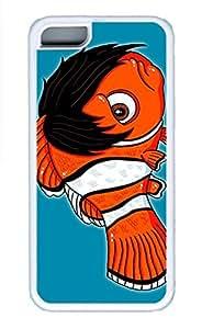 iPhone 5c Cases - Summer Unique Wholesale TPU White Cases Personalized Design The Man'S Head Fish