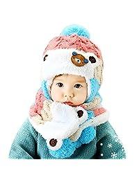 Bigban Baby Boys Girls Cute Cozy Cartoon Hats Baby Hats Scarf Winter Autumn