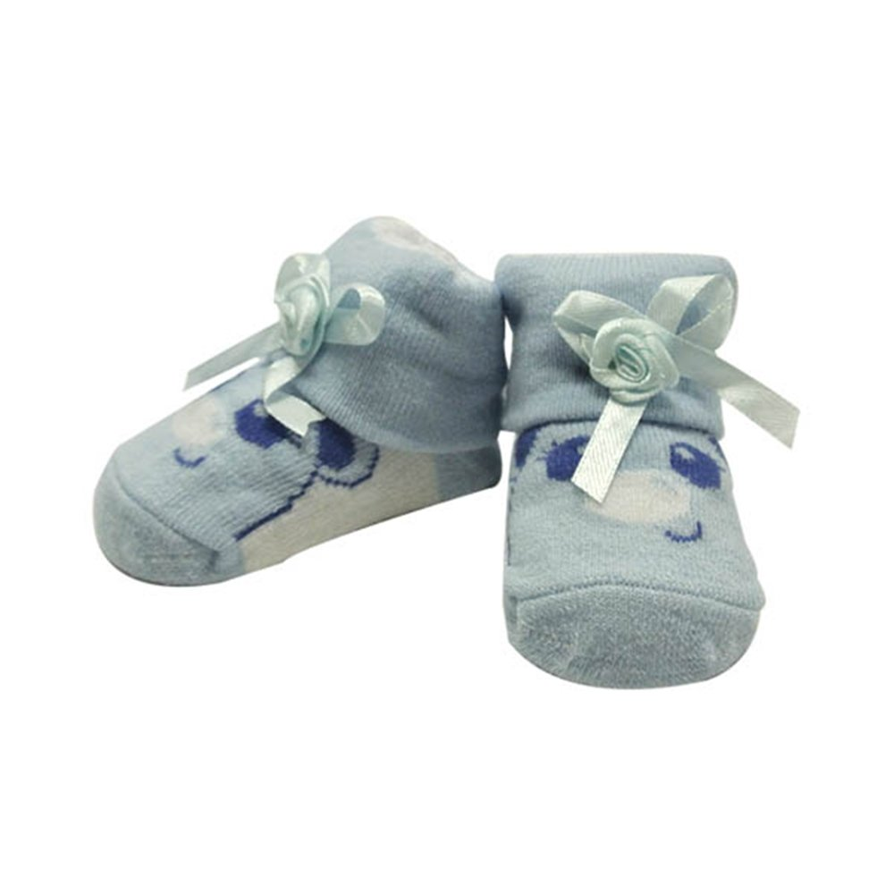 8d96b01f2 Amazon.com  Cutie Face Baby Socks - Blue  Infant And Toddler Socks  Clothing