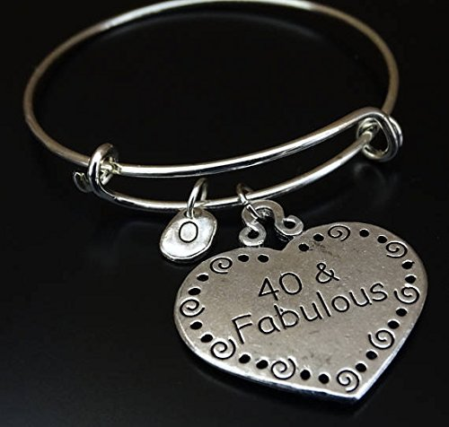 40 And Fabulous Bracelet 40th Birthday For Her Gift