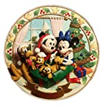 1996 3D Christmas Disney Wall Plate