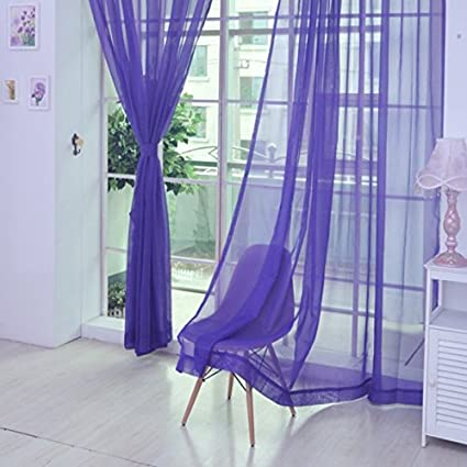 Juego de 2 cortinas de gasa para colgar cortinas, patas, visillos para salón, decoración, visillo, ventana transparente para cocina, cortina de ...