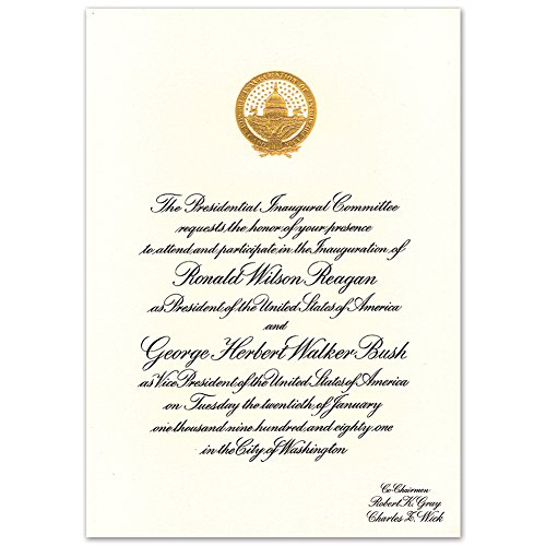 Ronald Reagan First Presidential Inaugural Invitation Authentic Historic