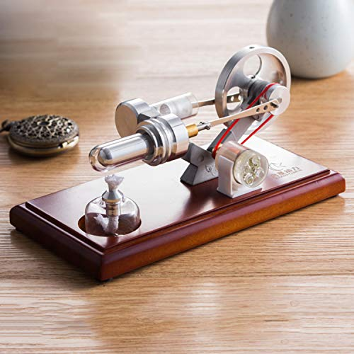 At27clekca QX-FD-03 Hot Air Stirling Engine Power Generator Motor Model Science Educational Lamp Toy Electricity Generator by At27clekca