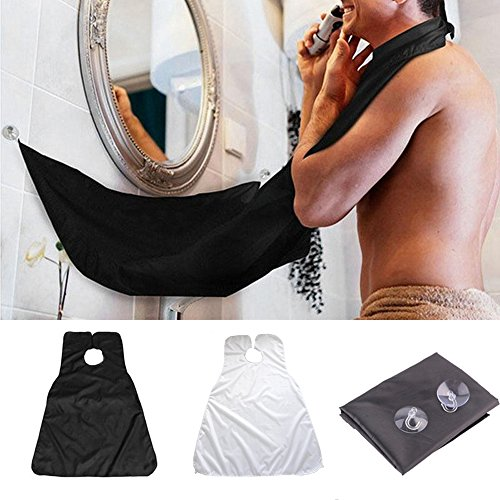 PANCY Beard Bib, Beard Hair Catcher Apron for Trimming Your Beard with Two Suction Cups for Man by PANCY