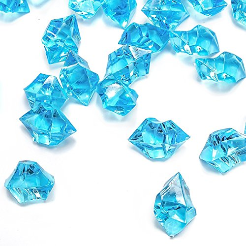 - Blue Fake Crushed Ice Rocks, 150 PCS Fake Diamonds Plastic Ice Cubes Acrylic Clear Ice Rock Diamond Crystals Fake Ice Cubes Gems for Home Decoration Wedding Display Vase Fillers by DomeStar