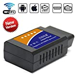 KONNWEI OBD2 Scanner, Car WIFI OBD2 Wireless OBD II Car Code Reader Scan Tool for iOS & Android (Updated 2018)