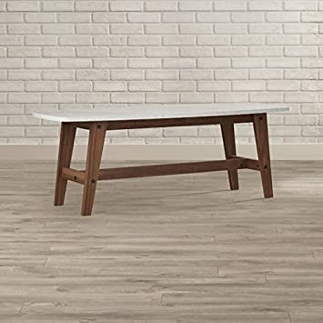 Wooden leg coffee table with granite top