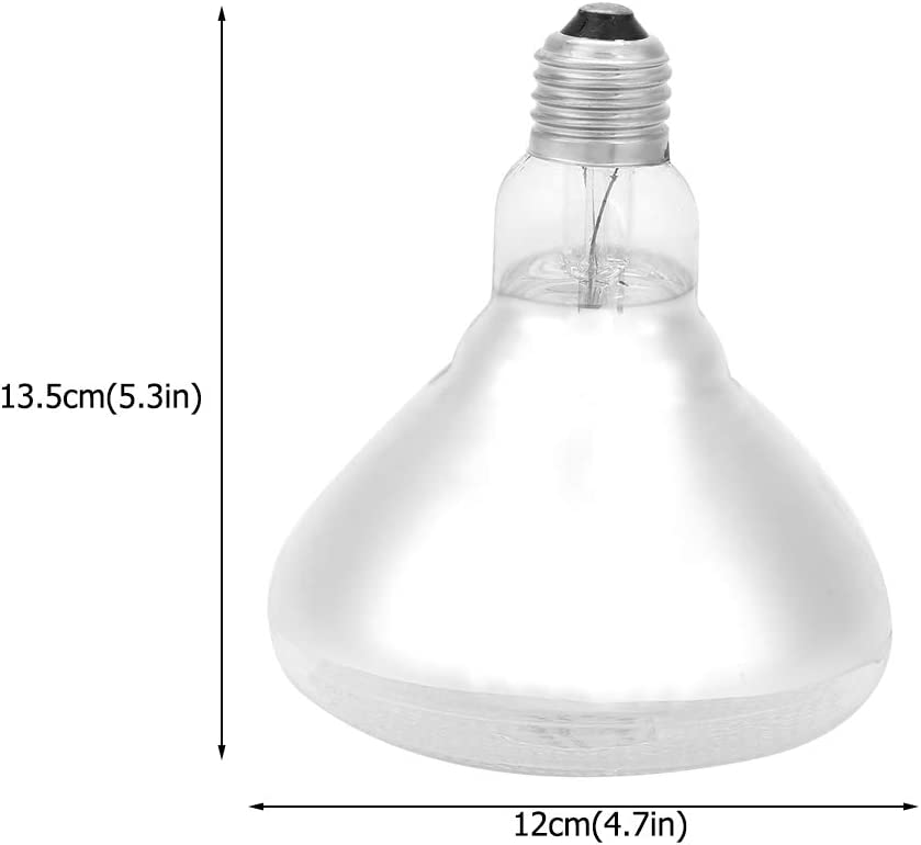 Thick Heat Waterproof Explosion-Proof Light Bulb Dot Rough Surface for Chicken Duck Birds 1Pc SOULONG Farms Heat Lamp Pig Piglet Breeding Lamp 175W