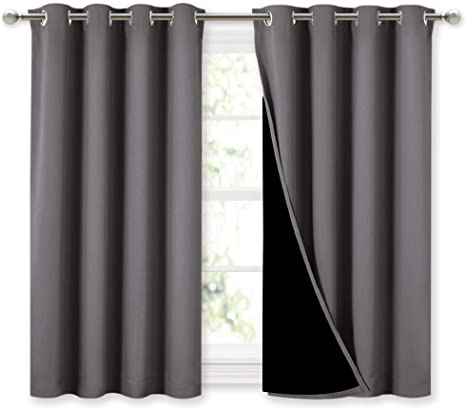 Luxury Thermal Blackout Eyelet Single Door Curtain Ready Made Heavy Polyester