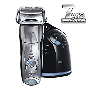 Braun Series 7 790cc Cordless Electric Foil Shaver for Men with Clean and Charge Station