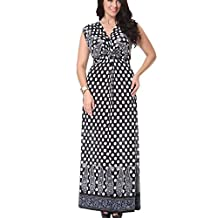 Greenis Women Summer Dress Soft Lace Up Polka Dot Long Sleeveless Plus Size