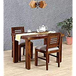 Sheesham Wood 2 Seater Dining Table Set with 2 Chair
