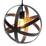 Best Choice Products Hanging Metal Spherical Pendant Chandelier Lighting Fixture (Bronze)