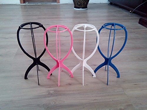 Price comparison product image Sunny-business Folding Stable Durable Wig Hair Hat Cap Stand Holder Display Rack Tool 4 PCS
