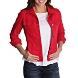 Riders by Lee Indigo Women's Denim Jacket, Jalapeno red, L