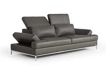 Amazon.com: Divani Casa Izzy Modern Dark Grey Eco-Leather ...