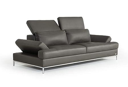 Amazon.com: Divani Casa Izzy Modern Dark Grey Eco-Leather ...