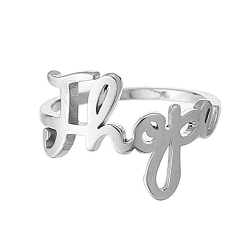 Saicowordist KPOP BTS Gleicher Absatz Mitglieds Name Brief Beschriftung Ring Unisex Paar Titan Stahl Ring Hei/ßes Geschenk