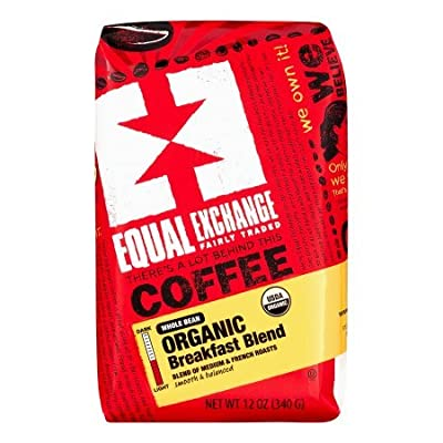 Equal Exchange Organic Coffee (Breakfast Blend, Whole Bean, 12 Oz, Pack Of 2)