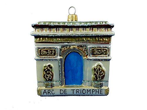 Champs Ornament (Arc De Triomphe (Arch of Truimph) Napoleon Center of Champs-Élysées French Revolution Landmark Paris France Polish Glass Christmas Ornament Souvenir)