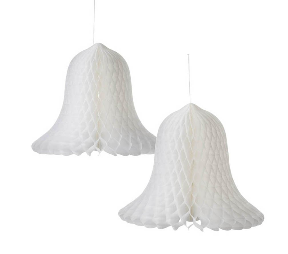 Darice White Bridal Paper Bells: 11 inches, 2 pieces VL8146052F