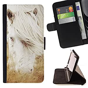 Jordan Colourful Shop - Albino White Horse Stallion For Apple Iphone 6 PLUS 5.5 - Leather Case Absorci???¡¯???€????€????????&ce