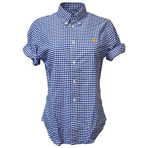 Polo Ralph Lauren Women's Short Sleeve Oxford Button Down Shirt, Navy/White, X-Large (Ralph Lauren Polo Oxford)