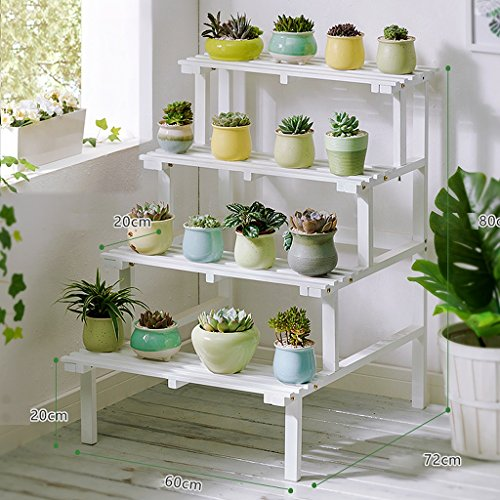 Cheap  ZHEN GUO Step Style Wooden Plant Rack Shelving, Pine Wood Flower Pots..