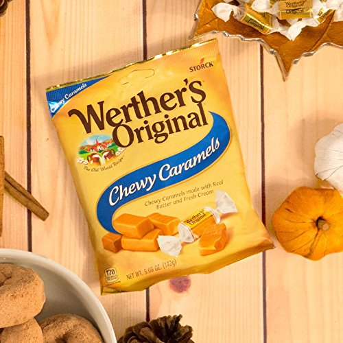 WERTHER'S ORIGINAL Chewy Caramels, 5.0 Ounce Bags (Pack of 12), Bulk Candy, Individually Wrapped Candy Caramels, Caramel Candy Sweets, Bag of Candy by Werther's (Image #5)