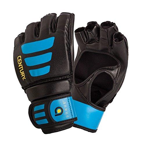 Century Brave Open Palm Gloves, Black/Blue, Large/X-Large