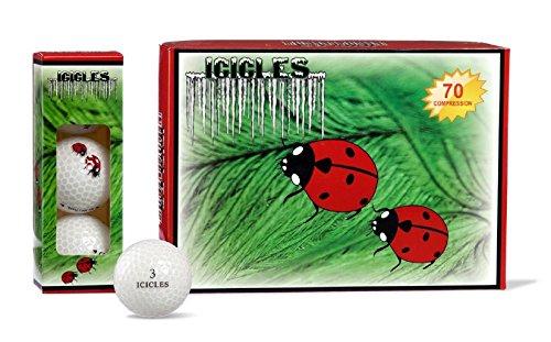 Bola de cristal con logo de mariquita Vgolf (paquete de 12)
