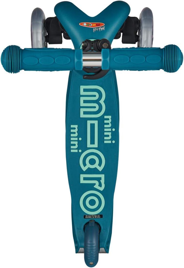 Micro® Mini Deluxe, Original Design, Patinete 3 Ruedas, 2-5 Años, Peso 1,95kg, Carga Máx: 50kg, Altura 48-68cm, Rodamientos ABEC 9, Plataforma Antideslizante.