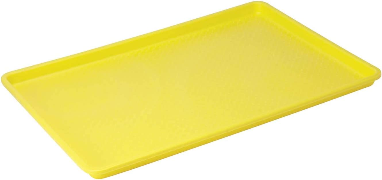 Winco Plastic Tray, 18-Inch by 26-Inch, Yellow